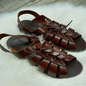 Leather Collection Brown Gladiator Sandal vintage
